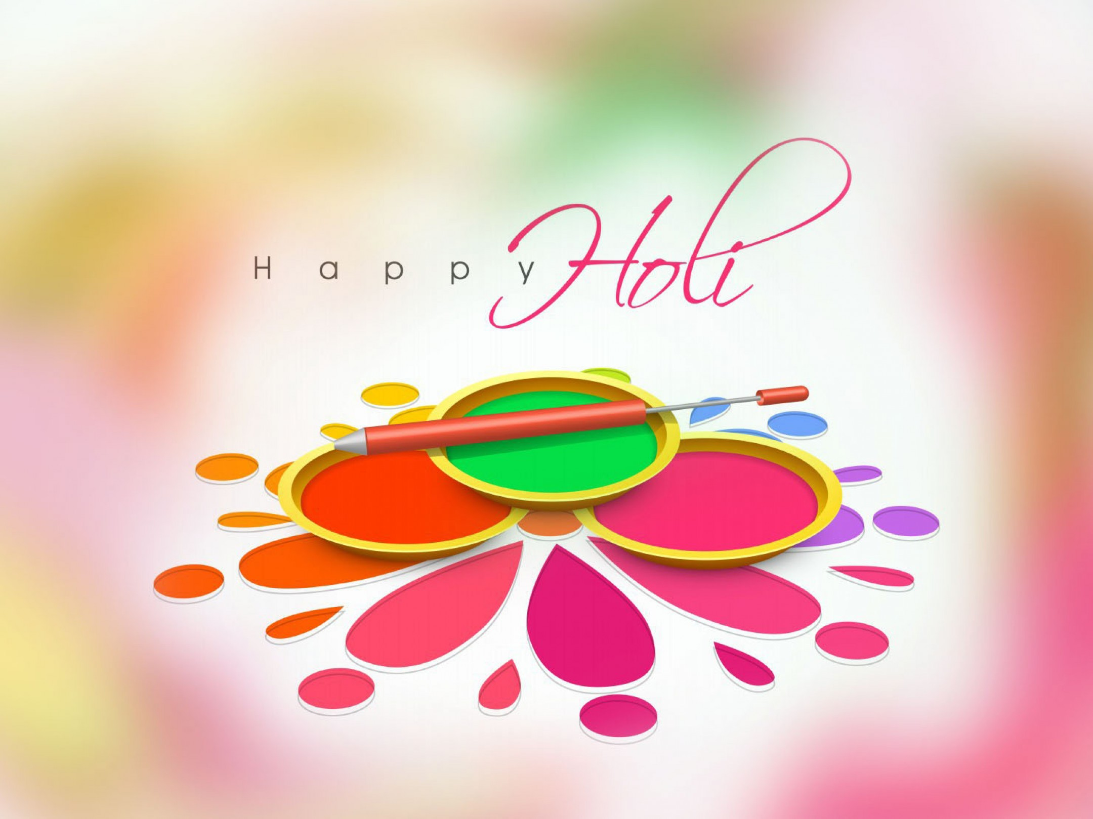 Happy holi 2018 colors festival holi greetings wishes hd wallpaper 2160x3840 kristyandbryce Image collections