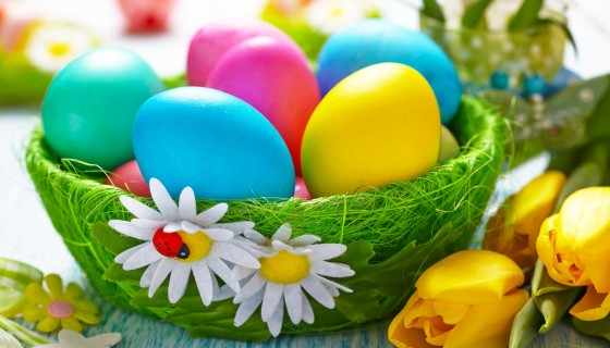 easter day colorful eggs …