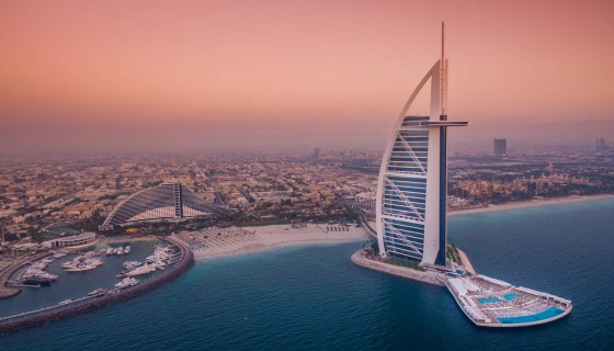 Burj Al Arab in Dubai dro…