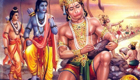 God Hanuman and Lord Shree Ram…