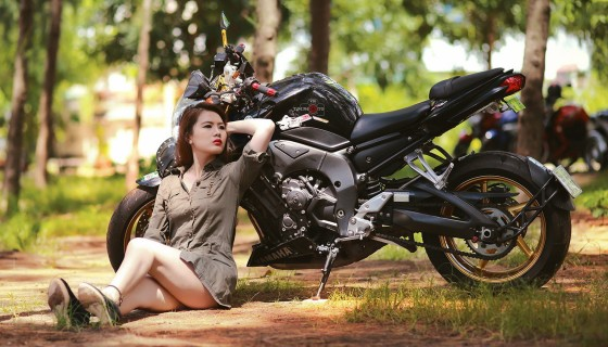 Yamaha Bikes beautiful girl hd…