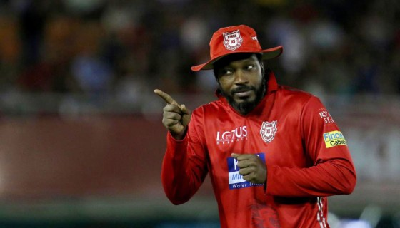 Chris Gayle of the Kings XI Pu…