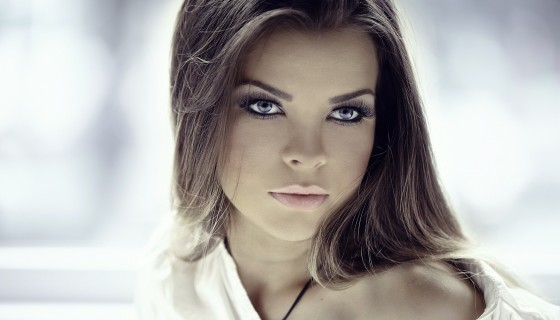 brunette women beautiful face …