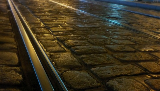 Prague metro cobblestone …