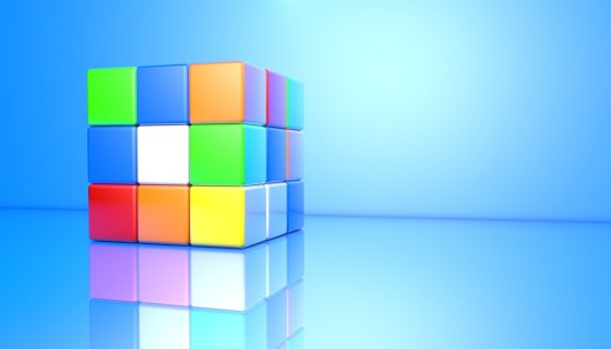3D Game Square Background…