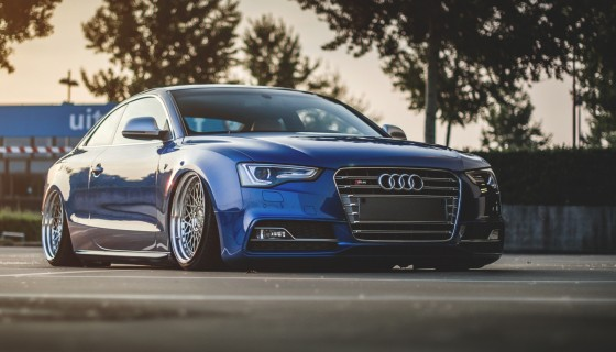 Audi blue car hd wallpaper