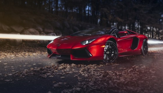Lamborghini red car