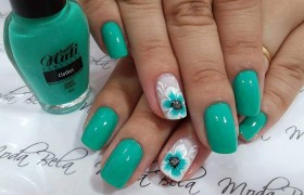 green nail art girls pict…