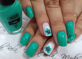green nail art girls picture hd wallpapers