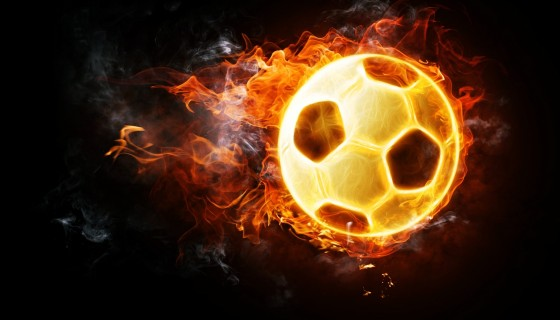 football soccer fire ball worl…