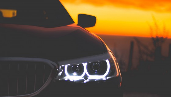 bmw car lights 4k