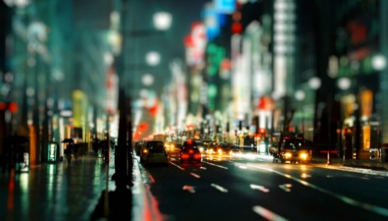 tilt shift cityscape 4k w…