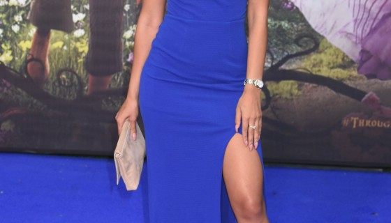 jasmin walia in blue dres…