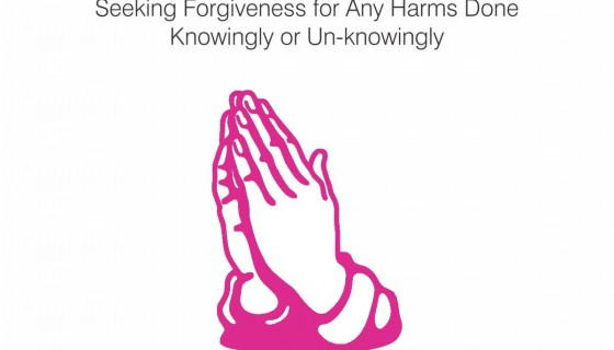 seeking forgiveness for a…