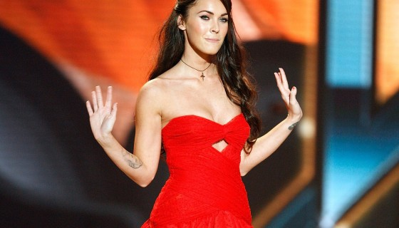 megan fox in red beautifu…
