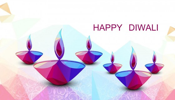 HAPPY DIWALI DIYA COLORFULL WA…