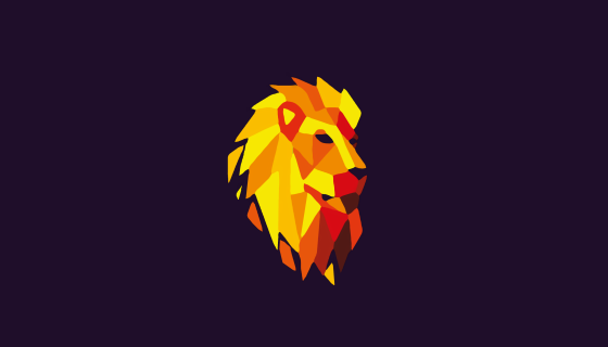 lion abstract artwork 4k backg…