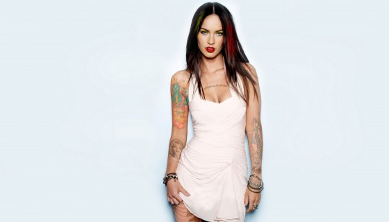 megan fox brunette tattoo clot…