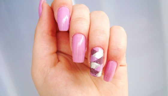 Pink nail polish girl fashion …
