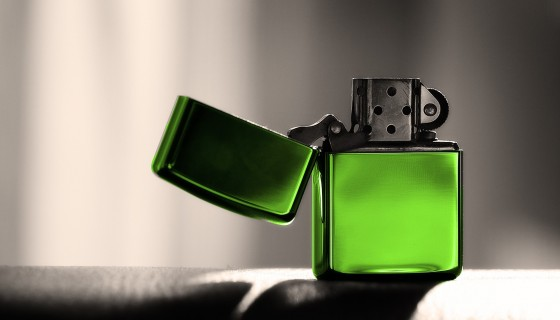 zippo green color lighter…
