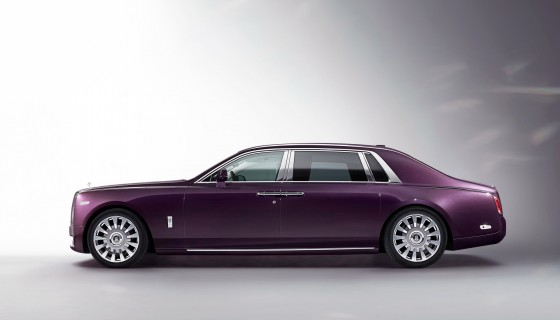 Purple Rolls Royce Phantom car…