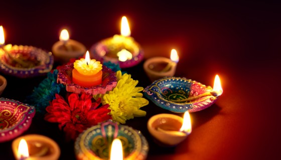 colorful diya diwali hd w…
