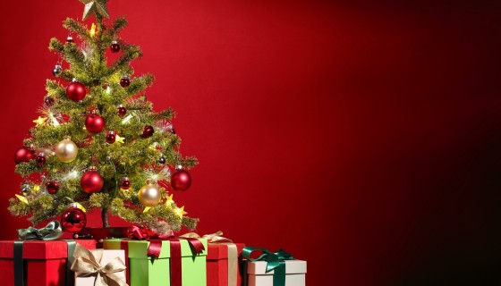 christmas tree gifts wallpaper