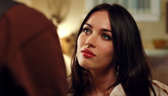 megan fox red lips stylish bla…