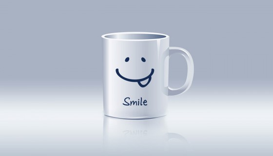 smile tee cup abstract wa…