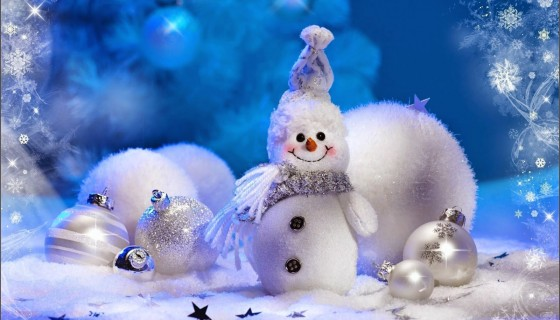 Cute Little Snowman Happy Wint…