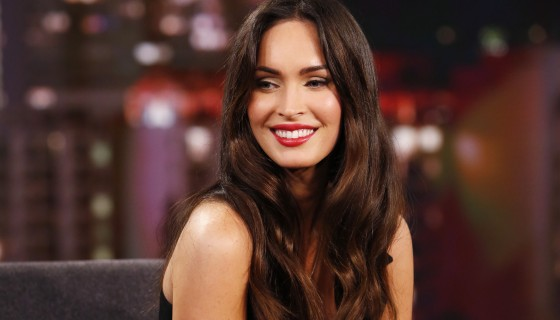 megan fox long hair cute smile…
