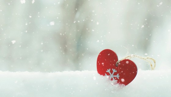 winter snow heart wide wallpap…