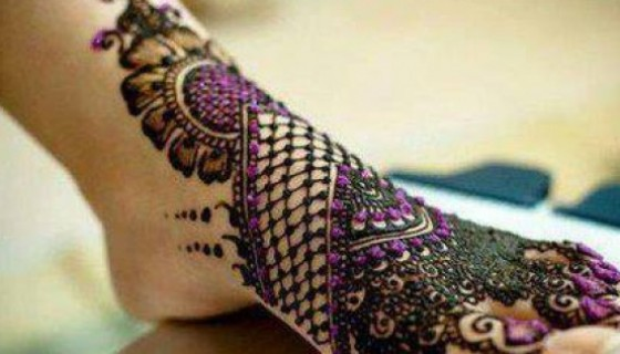 Romantic Beautiful Feet Mehndi…