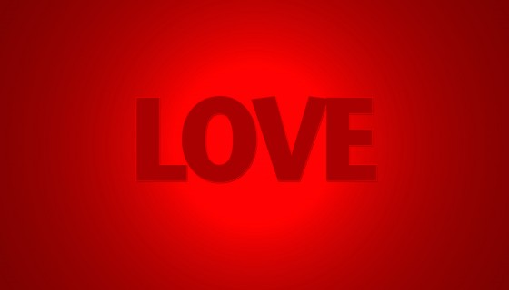 pure love red background color…