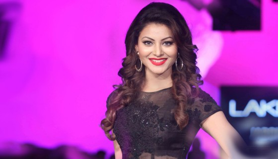 urvashi rautela red lips black…