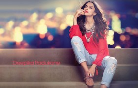 deepika padukone  red lips sty…