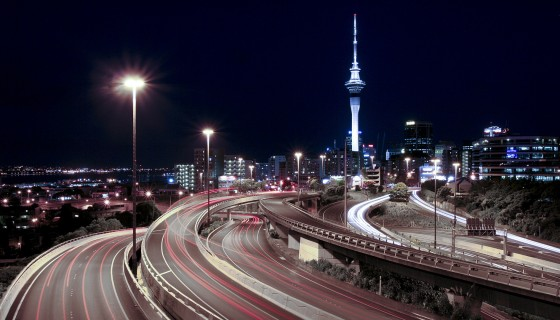 city night lights road wa…