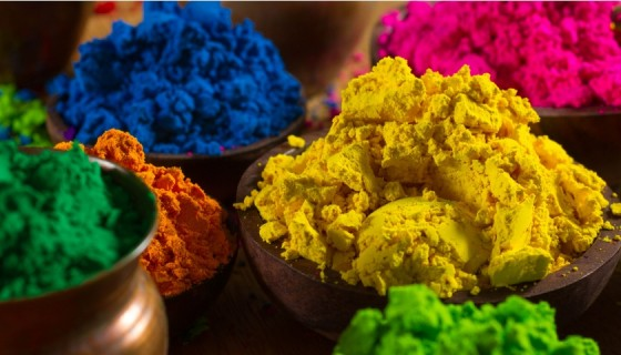 celebrate holi colorful powder…