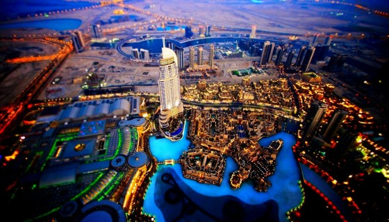 Night Glow Dubai City Sky View…