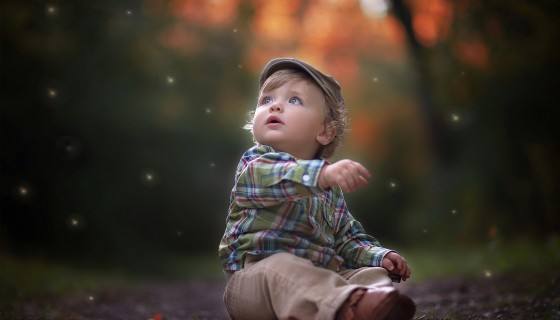 cute little boy wide wall…
