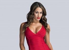 nikki bella red dress wwe divas champ 2017
