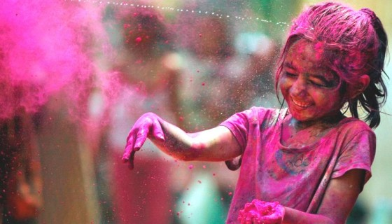 cute girl smile happy holi 201…